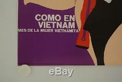 Affiche Politique COMO EN VIETNAM 1969 illustr. MEDEROS PAZOS