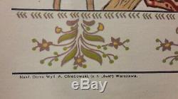Affiche Pologne Judaica Rabbin Fresque Populaire Rare 1920 Env