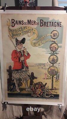 Affiche Pornichet Paludier Rare