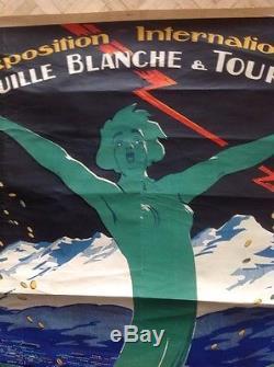 Affiche Poster Exposition Internationale De Grenoble 1925 World Fair Tourism