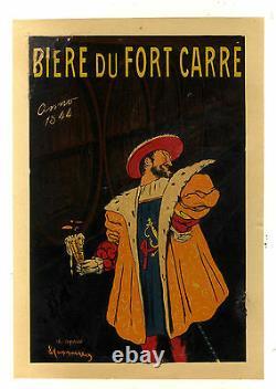 Affiche Pub Ancienne Biere Du Fort Carre Cappiello