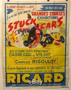 Affiche Pub Courses Stock Cars (ricard) 1954