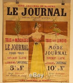 Affiche Pub Le Journal 1896