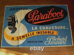 Affiche Publicitaire Ancienne Chaussure PARABOOT Richard Onvert Jh CLERIN Poster
