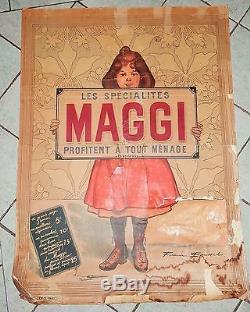 Affiche Publicitaire Maggi Firmin Bouisset IMP Camis Paris