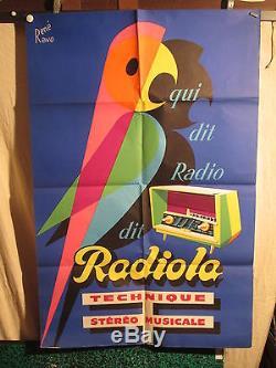 Affiche Radiola Perroquet Couleur Ravo