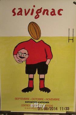 Affiche Rugby Savignac Humour