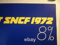 Affiche SNCF Morvan emprunt 1972 entoilée originale