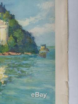 Affiche SNCF originale Starr 1947 région Mont Saint Michel 62 x 100 cms