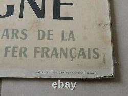 Affiche SNCF originale Visitez La Bretagne édition Perceval Paris 1958