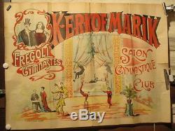 Affiche Spectacle Gymnastes Fregoli Illusionnistes 1900