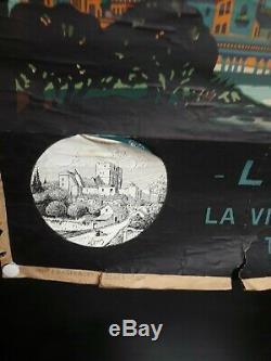 Affiche Touraine Loches Annees 1930