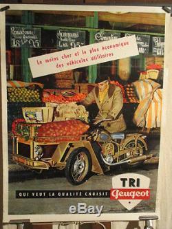 Affiche Triporteur Peugeot 1955