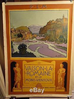Affiche Vaison La Romaine Mt Ventoux Lelee