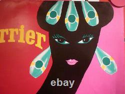 Affiche Villemot perrier femme noire au collier originale