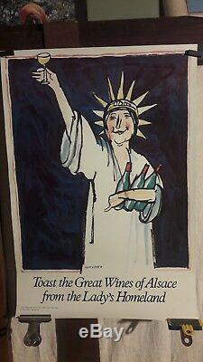 Affiche Vin Alsace Statue Liberte Ungerer