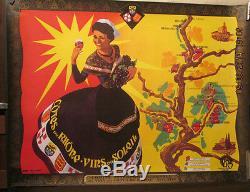 Affiche Vin Cotes Du Rhone Femme Soleil Couleurs