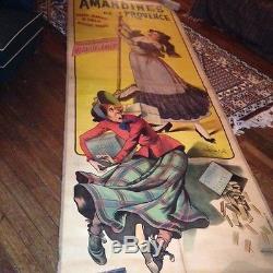 Affiche ancienne 1901 AMANDINES DE PROVENCE