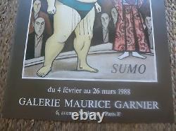 Affiche ancienne 1988 BERNARD BUFFET galerie Garnier SUMO