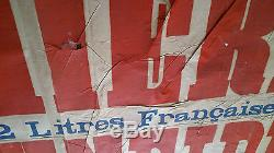 Affiche ancienne 24 h du MANS 1926 AUTOMOBILE SCHNEIDER Besançon