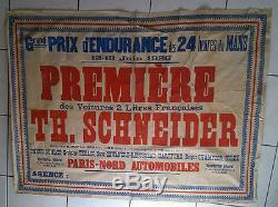 Affiche ancienne 24h du MANS 1926