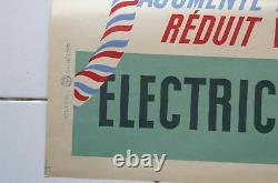 Affiche ancienne BONS D'ELECTRICITE EDF FRANCE Mario Vintage Art Poster Pub