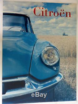 Affiche ancienne CITROËN DS Entoilée Années 1970 Pub. DELPIRE Chârtres Cathédral