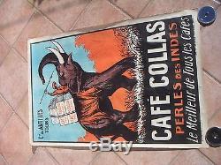 Affiche ancienne Café des Antilles Collas Tours 1927