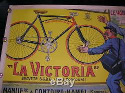 Affiche ancienne Cycles La victoria La poste/ Facteur