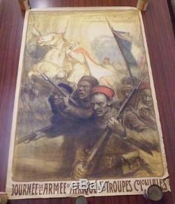 Affiche ancienne Journée de l'armée d'Afrique et des troupes coloniales