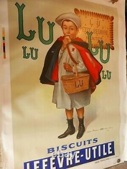 Affiche ancienne LU Biscuits Lefèvre Utile d'après Firmin BOUISSET