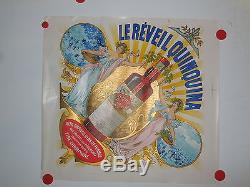 Affiche ancienne Le reveil Quinquina 1900 art nouveau theme truffes du Perigord