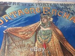 Affiche ancienne Lithographie XIX Alfred CHOUBRAC théatre Saint Martin PARIS