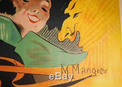 Affiche ancienne Mangier M. Bal des étudiants