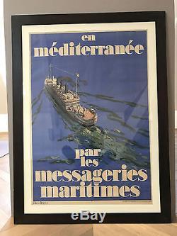 Affiche ancienne Messageries Maritimes