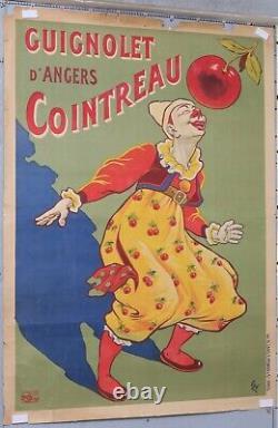 Affiche ancienne OGE Eugène circa 1907 GUIGNOLET D'ANGERS COINTREAU