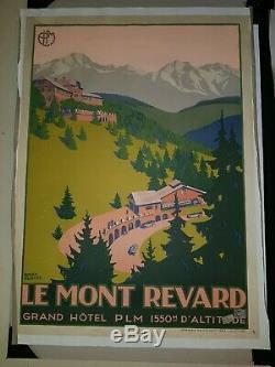 Affiche ancienne P. L. M le Mont Revard