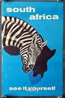 Affiche ancienne South Africa see it yourself