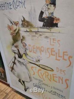 Affiche ancienne Théâtre de Cluny Paris de 1898 illustrée par Wely