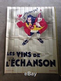 Affiche ancienne VINS DE L'ÉCHANSON 1932 Artis Vin French Whine vintage poster