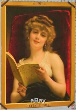 Affiche ancienne VINTAGE POSTER A. PIOT 1911 BICUITS LU LEFEVRE UTILE