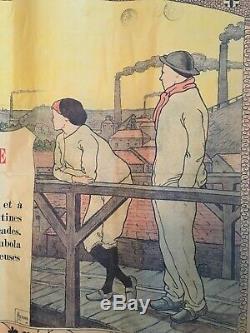 Affiche ancienne Ville de Mons Exposition Internationale Mai à Septembre 1896