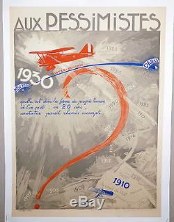 Affiche ancienne aviation 1930