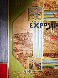 Affiche ancienne exposition à LYON 1914