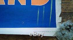 Affiche ancienne, hollande, anvv, 38 parkstraat, den haag, 65x105cm