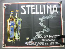 Affiche ancienne liqueur stéllina andré farcy 120x160 imprimerie à Grenoble