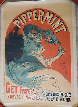 Affiche ancienne originale CHERET Jules PIPPERMINT