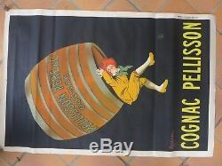 Affiche ancienne originale COGNAC PELLISSON par CAPPIELO 80 X 120 cm