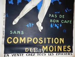 Affiche ancienne originale MOHR P. COMPOSITION DES MOINES