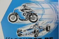 Affiche ancienne originale MONT VENTOUX 46e COURSE de COTE AUTO MOTO années 60